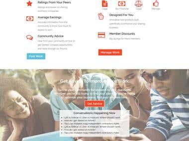 PSD To Wordpress Sharing Economy Website