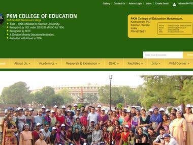 PKM College website