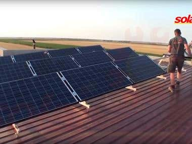 Photovoltaic panels on agricultural farm