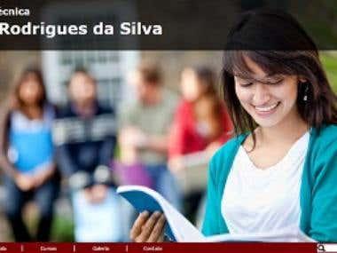 Site Institucional: Escola Técnica José Rodrigues da Silva