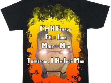 Ironman t-shirt design