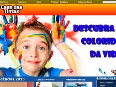 Website Institucional: Casa das Tintas