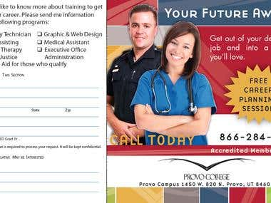 Direct mail piece for Provo College