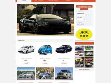 Complete Web Based Vehicle Renting System + Complete Backend