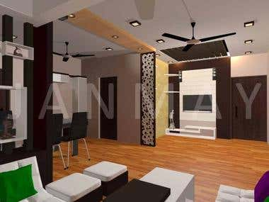 3D renderings of apartment