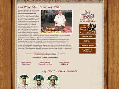 Food Industry Website- Hog Wild BBQ