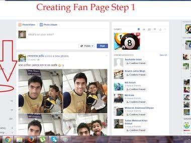 Facebook Fan Page Create Demo
