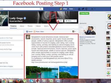 Facebook Posting Demo