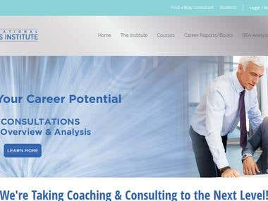 Business Coaching and Consulting Website