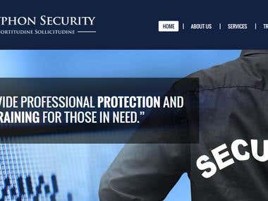 WordPress website -Gryphon Security and Coaching
