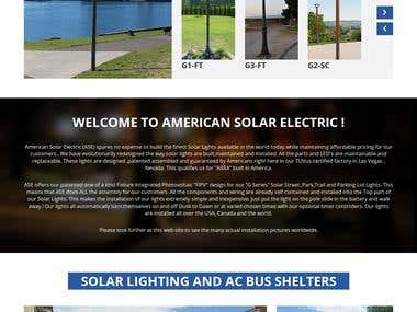 American Solar Electric WordPress website