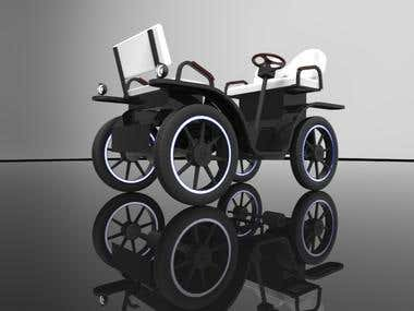 Design & Development of ELECTRIC SIDE SEEING CART