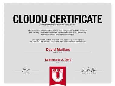 Rackspace CloudU Certificated