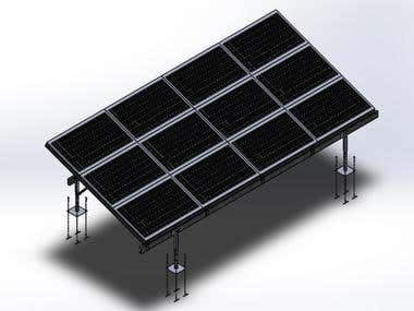 RACK SYSTEM TO SOLAR PANELS