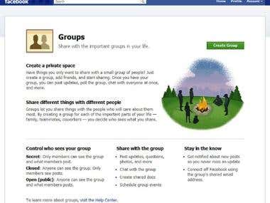 Manage Facebook Groups