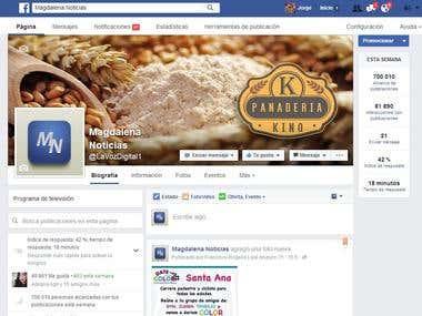 Facebook FANPAGE managing