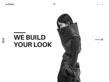 Clean and minimalist fashion landing page concept