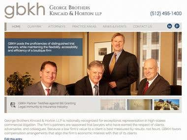 Austin Texas Litigation Law Firm Website Creation