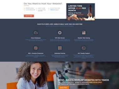 Redesign Complete Website Fully Dynamic with WHMCS APIs