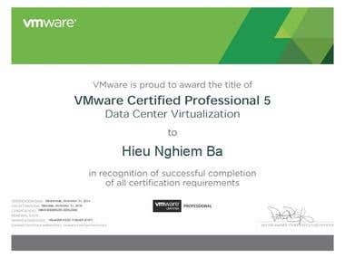 VMware Certified Professional Datacenter Virtualization 5.x