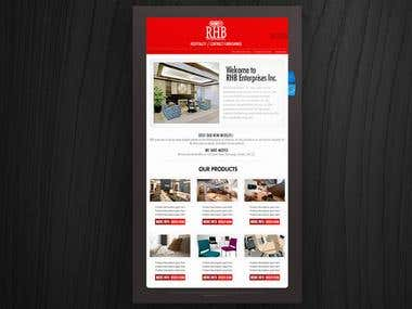 Rhb Landing Email template