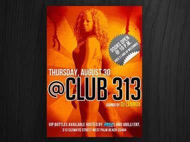 Club 313 flyer