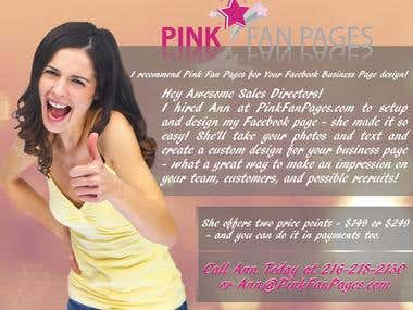 Pink fan pages flyer