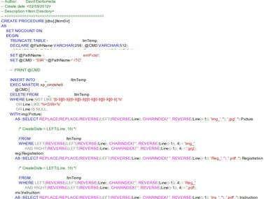 MS SQL Complex DB Queries, Automation & ETL