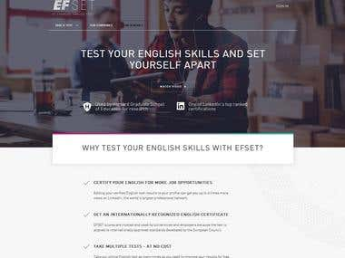 English Learning Courses, tests and website translation