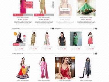 Shopbuzz ecommerce Layout