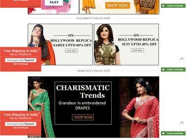 eCommerce Website- ethnicwala