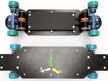 Electrical skateboard.