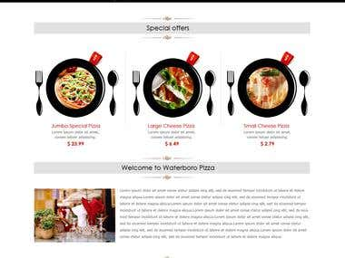 Website Design Pizza Shop.