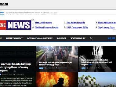 Mushene News Website
