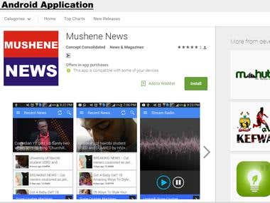 Mushene News Android Application