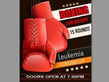 Boxing Fundraiser - Flyer