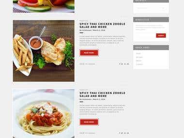 Responsive Food Blog Web Design