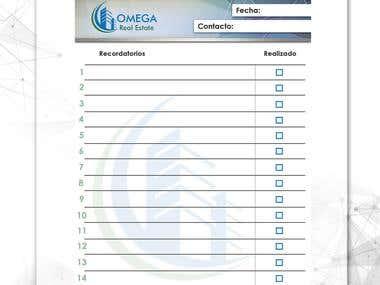 Stationery for Omega Panama