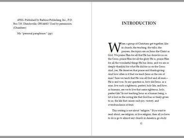 Book manuscript editing with formatting and layout