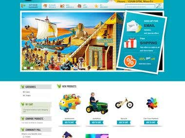Toy House : Ecommerce Website Design