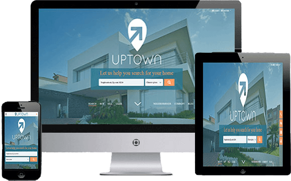Responsive real estate website using Bootstrap