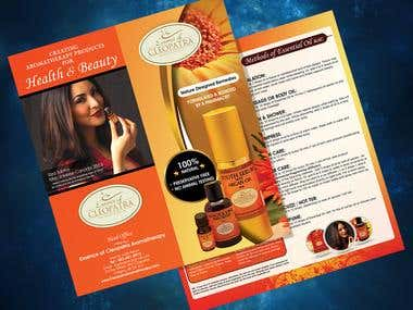 Brochure Design for a Cosmetic Company