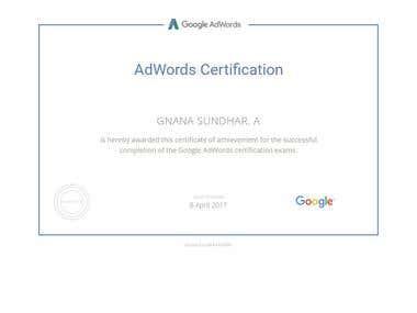 Adwors certificate