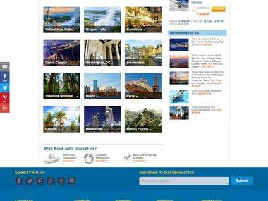 Online Tours Website
