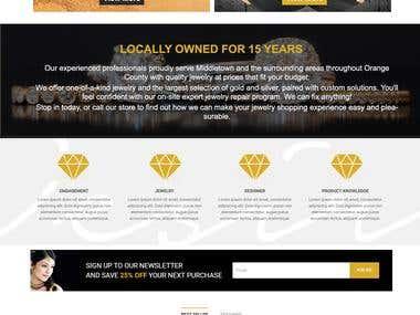 Jewellary Website Mockup