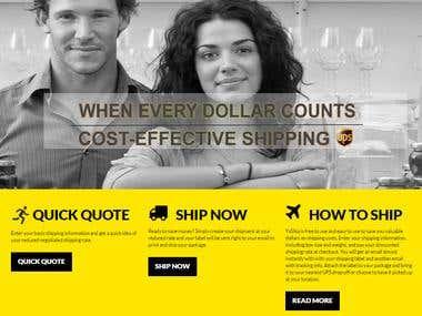 Woocommerce website for Shipment