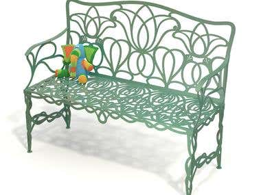 Design metal furniture made by laser