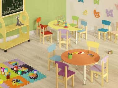 children's rooms designing and visualization