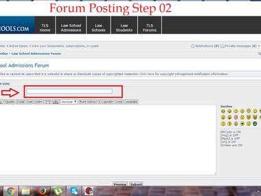 Forum Posting Demo