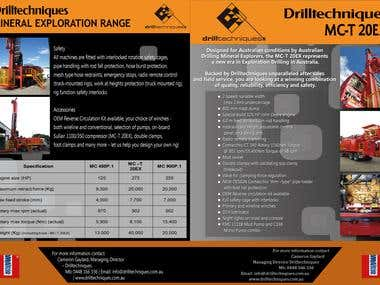 Drilltechniques Brochure Design